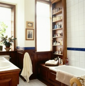 Traditional European bathroom